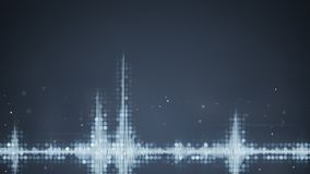 Grey audio waveform equalizer abstract techno background Stock Photos