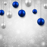 Grey background with christmas balls. Royalty Free Stock Image