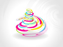 Grey background with colorful spiral xmas tree Stock Image