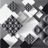Grey Background con i quadrati. illustrazione vettoriale