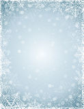 Grey background with  frame of snowflakes,  vector Stock Photo
