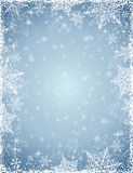 Grey background with  frame of snowflakes,  vector Stock Photography