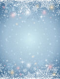 Grey background with  frame of snowflakes,  vector Stock Images