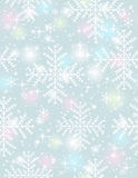 Grey background with  many snowflakes,  vector Royalty Free Stock Photos