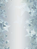 Grey background with shining silver stars stock illustration