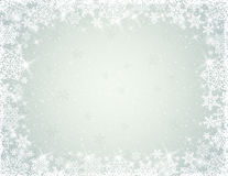 Grey background with snowflakes, vector. Grey background with border of snowflakes, vector illustration stock illustration