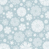Grey background with snowflakes, vector Stock Images