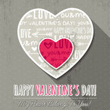 Grey background with  two valentine hearts,  vector Stock Image