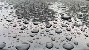 Grey background with water drop. Royalty Free Stock Photo