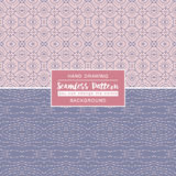 Grey backgrounds with seamless patterns. Ideal for printing Royalty Free Stock Photo