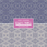 Grey backgrounds with seamless patterns. Ideal for printing Stock Photo
