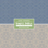 Grey backgrounds with seamless patterns. Ideal for printing. Onto Stock Photography