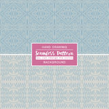 Grey backgrounds with seamless patterns. Ideal for printing. Onto fabric and paper or scrap booking. Vector illustration Royalty Free Illustration