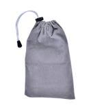 Grey Bags White Rope Fabric lokalisierte Beschneidungspfad Lizenzfreie Stockfotografie