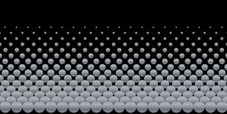 A Black and Grey Ball Abstract Background. A grey ball bearing background over black royalty free illustration