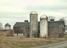 Grey barn Royalty Free Stock Images