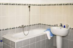 Grey bath Stock Photography
