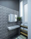 Grey bathroom Stock Photo