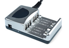 Grey battery charger Royalty Free Stock Image