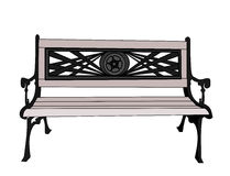 Grey Bench Royalty Free Stock Photos