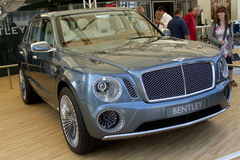Grey Bentley EXP 9 F concept. At Goodwood Festival of Speed on June, 28 2012 in Goodwood England royalty free stock image