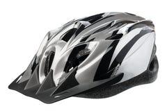 Grey bicycle cross country plastic helmet Royalty Free Stock Image