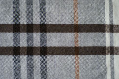 Grey Biege And Brown Texture Checkered Knitted Royalty Free Stock Photo