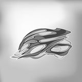 Grey Bike Helmet Stock Photo
