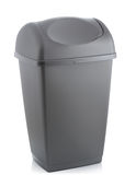 Grey bin Royalty Free Stock Photography