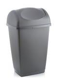 Grey bin. Grey flip lid bin isolated on white background Royalty Free Stock Photography