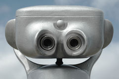 Grey binocular Royalty Free Stock Image
