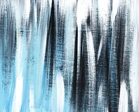 Grey, black, blue striped grange background hand painted with the soft brush on a toned paper. royalty free stock image