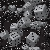 Grey Black Dice Seamless Pattern Fotografie Stock