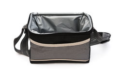 Grey and black lunch pack carrier opened Stock Photo