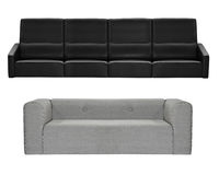 Grey and black modern sofa isolated. On white background Stock Images