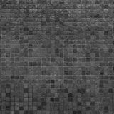 Grey and black mosaic wall texture Stock Photos
