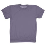 Grey blank t-shirt (Clipping path) Stock Photo