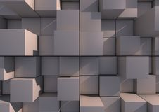 Grey block background. Close-up of an abstract background image of grey blocks Stock Photography