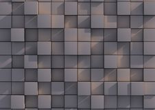 Grey block background. Abstract background image of grey blocks Stock Photos