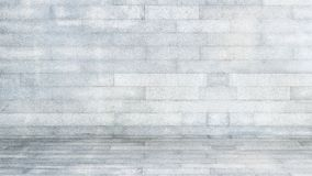 Grey block pattern texture on background with wall and floor for interior decorate stock images