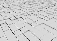 Grey blocky 3d floor Stock Image