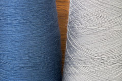 Grey and blue background from threads Royalty Free Stock Photos