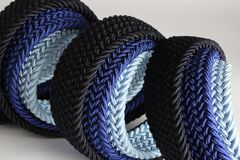 Grey Blue and Black Braided Strap Stock Images