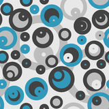 Grey and blue bubbles seamless pattern Royalty Free Stock Images