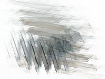 Grey blue chaotic strokes in the form of a fractal royalty free stock photos