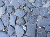 Grey blue cobbled pavement Stock Image