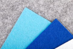 Grey and blue felt texture Stock Image