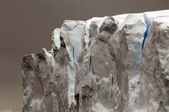 Grey-blue iceberg. With crevasses Royalty Free Stock Photos