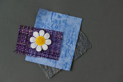 Grey Blue Purple Daisy Flower Scrapbook Supplies Stock Photography