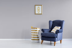 Grey and blue room Stock Images